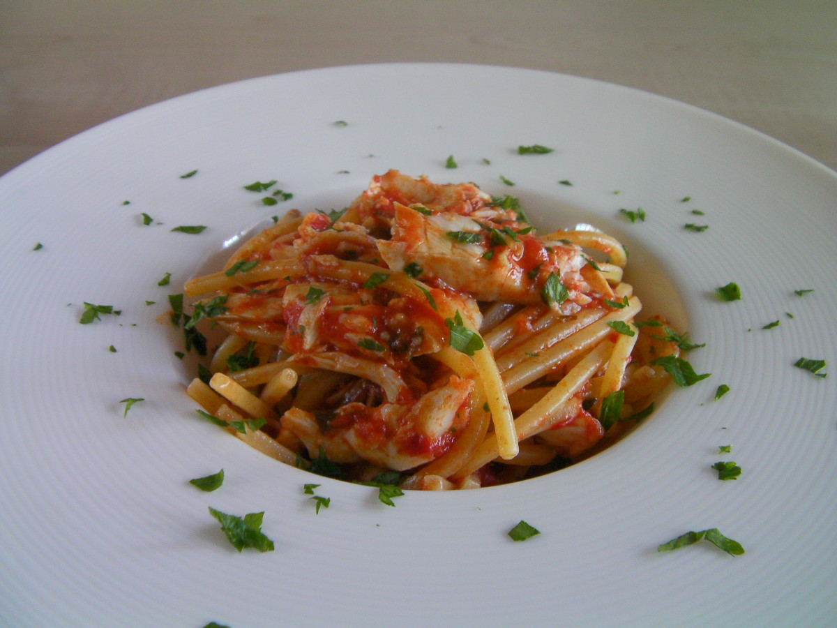 Spaghetti al sugo di gallinella di mare