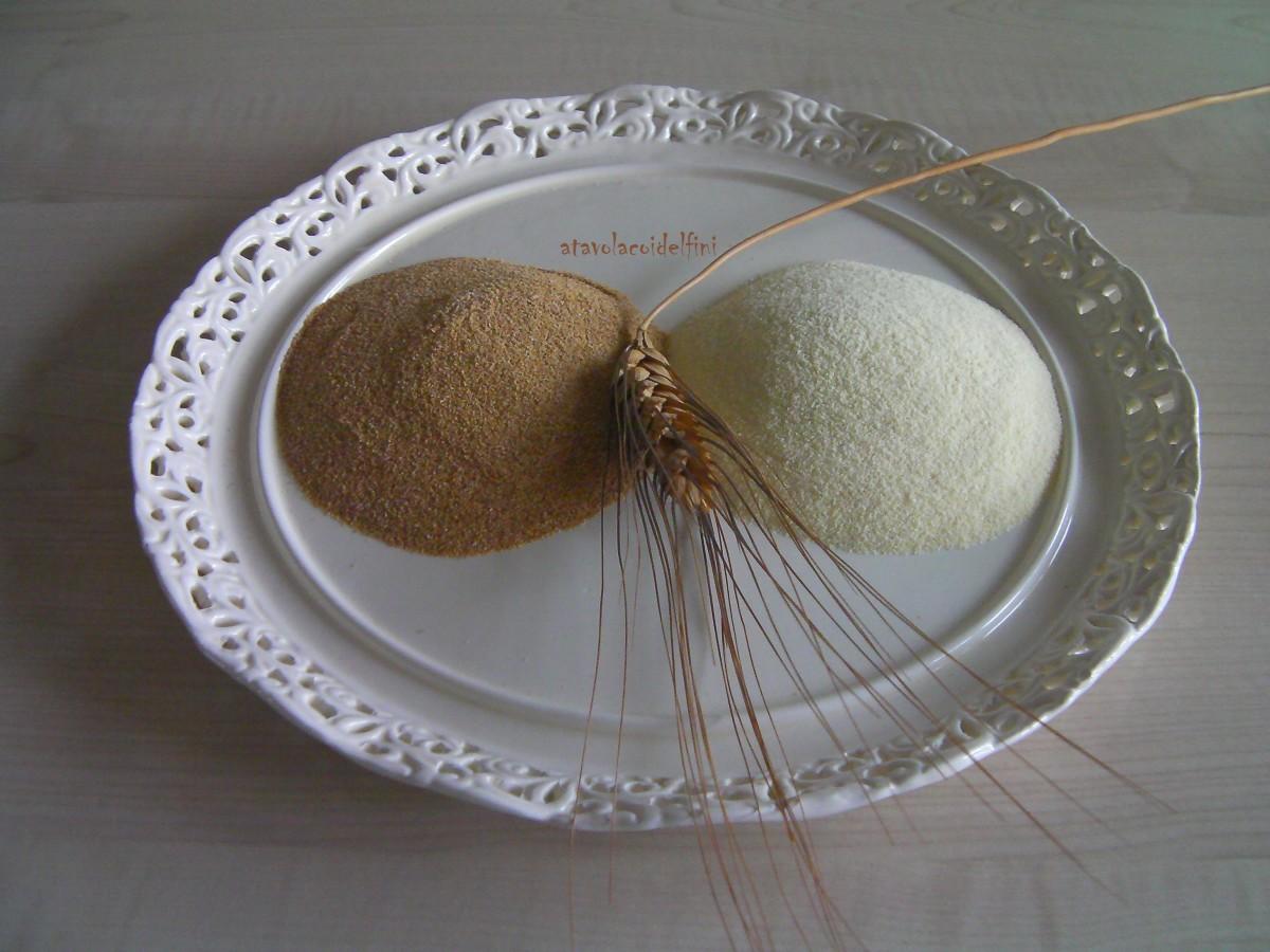 Farina di semola rimacinata di grano duro tostata