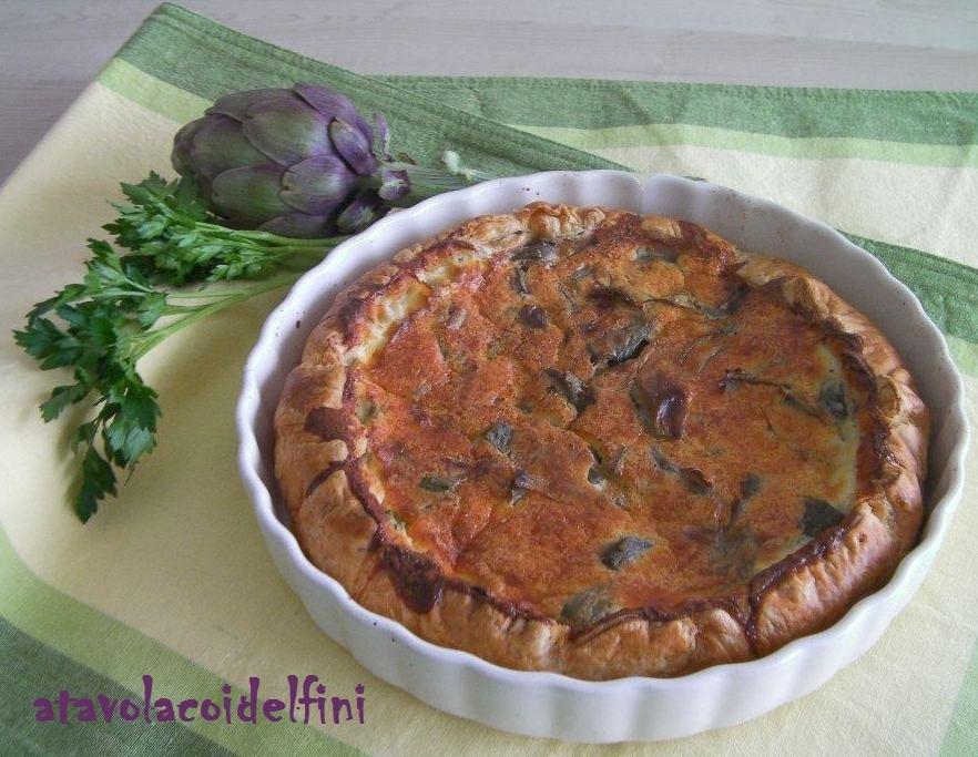 Torta salata ai carciofi violetti di Brindisi