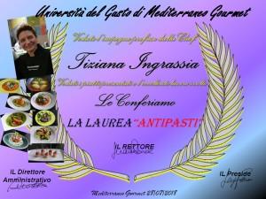 Mediterraneo Gourmet Laurea la Chef Tiziana Ingrassia di Atavolacoidelfini