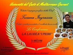 Mediterraneo Gourmet Premia la Chef Tiziana Ingrassia di Atavolacoidelfini