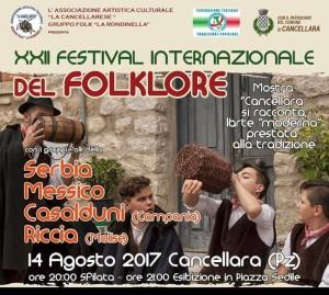 XII Festival Internazionale del Folklore - Cancellara (Pz)