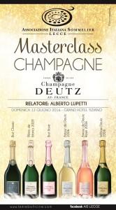 Masterclass Champagne Deutz - Lecce
