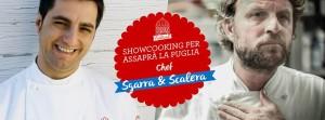 Showcooking per Assaprà la Puglia - Chef Felice Sgarra e Chef Antonio Scalera