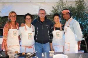 Chef Palma D'onofrio - Pastry Tiziano Mita - Giornalista Michele Peragine - Tiziana Ingrassia - Chef Vinod Sookar