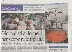 Gazzetta del Mezzogiorno BuonGusto 16.01.2015