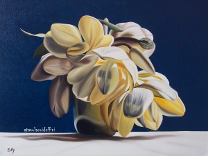 Magnolie - olio su tela (50x60)