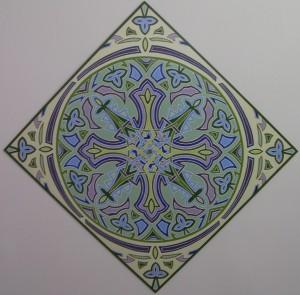 Mandala - acrilico su legno (120x120)