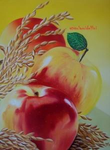 Mele e avena - olio su tela (40x50)