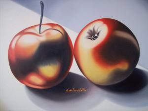 Mele rosse - olio su tela (60x80)