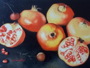 Melograni - olio su tela (60x80)