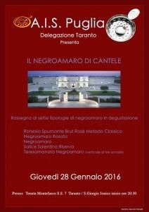 Negroamaro di Cantele Ais Puglia - Del. di Taranto