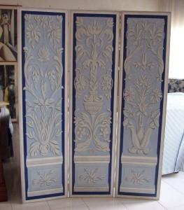 Paravento rinascimentale - dipinto su legno L160 H120
