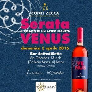 Serata Venus Conti Zecca - Lecce