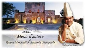 Menù d'autore Chef Andrea Serravezza - Lecce