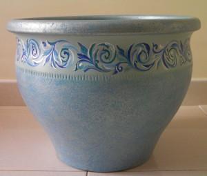 Vaso in terracotta dipinto a mano