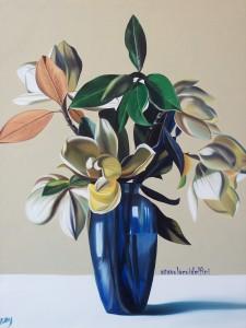 Vaso di magnolie - olio su tela (50x60)