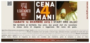 Cena a 4 mani - Il Castagneto - Melfi (Pz)