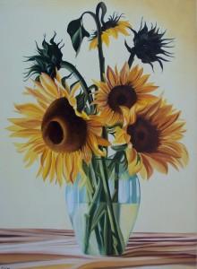 Girasoli - olio su tela (50x70)