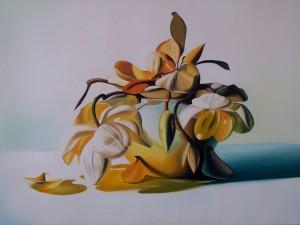 Magnolie - olio su tela (50x70)
