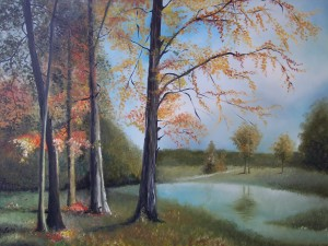 Paesaggio - olio su tela (70x100)
