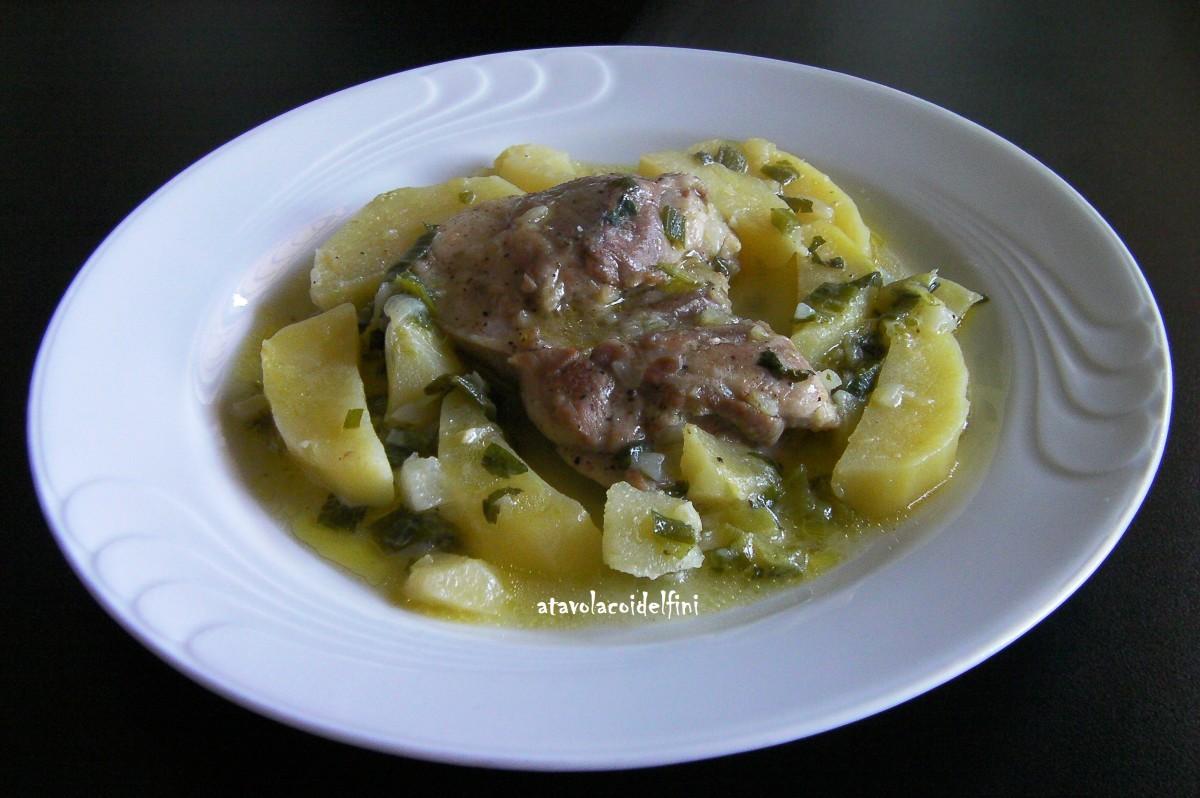 Pollo ruspante, patate della Sila e sponsali