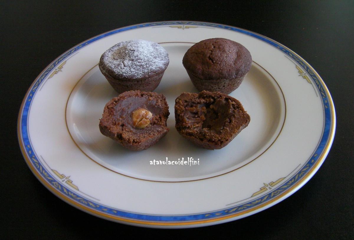 Tortine al cacao ed olio evo con confettura di castagne del Vulture e nocciole