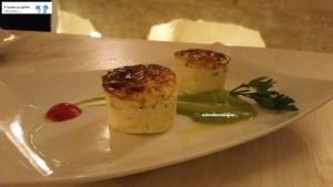 Sformatino di fiori di zucca con salsa alla menta