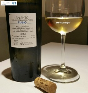 Fiano Salento Igt 2013 - Masseria Cistonaro
