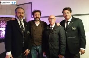 Vittorio Guerrazzi, Vincenzo Mercurio, Enrico Malgi e Nevio Toti