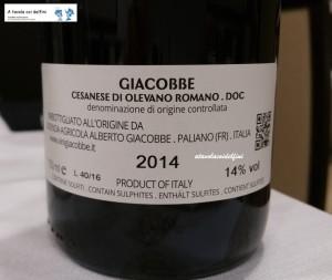 Cesanese di Olevano Romano Superiore Doc 2014 - Giacobbe