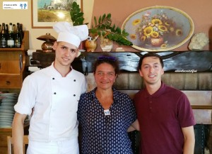 Chef Sofi Sinami e Giordano Lorenzotti