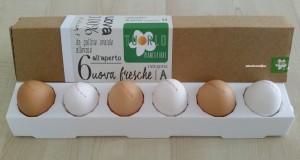 Uova allevate all'aperto cat.A Biancofiore