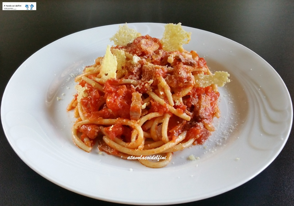 Tonnarelli all'amatriciana