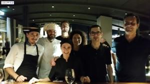 Chef Alessio Neri, Alessandro Bernardi e Brigata