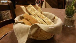 Pane e pizze della casa