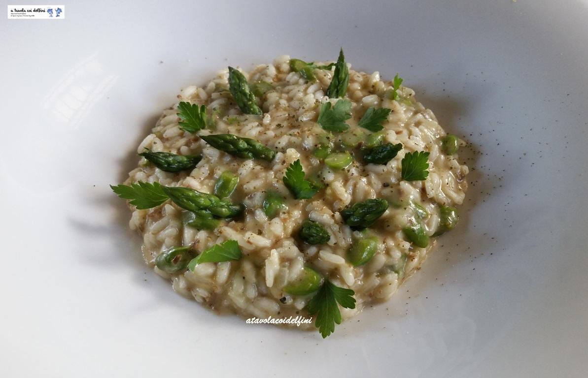 Risotto al patè di struzzo e asparagi mantecato al gouda