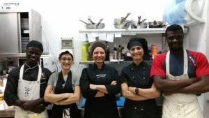 Chef Maria Rosaria Peluso e Brigata