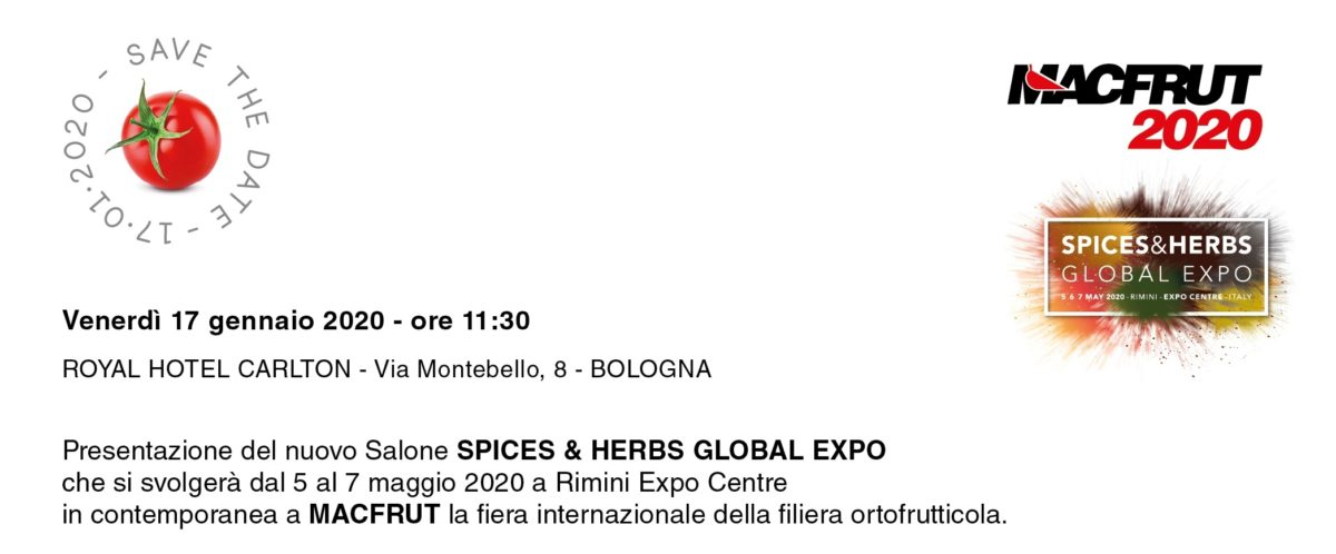 Spices & Herbs Global Expo – MacFrut 2020 – Bologna