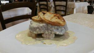 Filetto di manzo con crema al gorgonzola