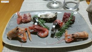 Crudo di pesce e crostacei