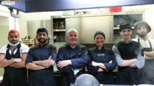 Chef Sirio Paiano e brigata