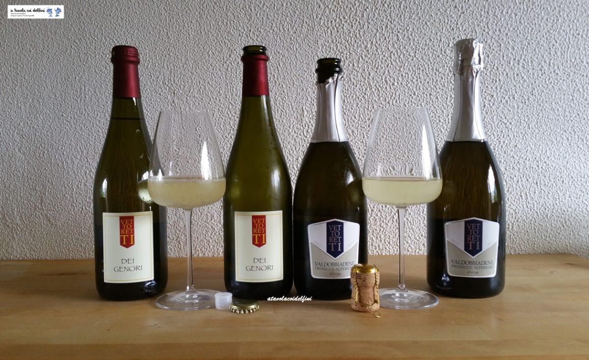 """""""Dei Genori"""" Vino bianco frizzante 2021 e Valdobbiadene Prosecco Superiore DOCG brut 2021 – Az. Agr. Vettoretti Primo – San Giovanni di Valdobbiadene (Tv)"""
